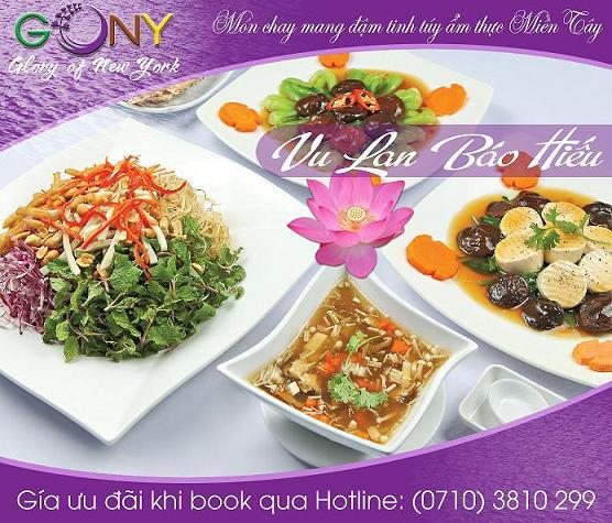 Nhà hàng GONY - Phục vụ với Tâm người Phật tử
